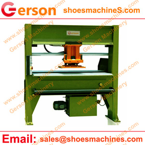 PU synthetic Leather die cutting press