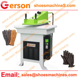 Cutting machine for leather glove
