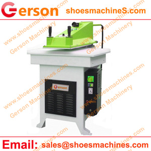 Die cutting press for shoulder pad clothing components