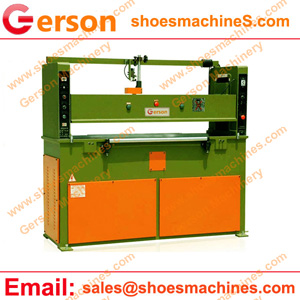 Leather pieces cutting machine