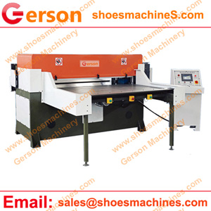 Four pillar hydraulic cutting press with single or double slide table