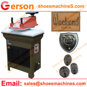 Embossed Faux Jeans Leather Patch Label Cutting Machine