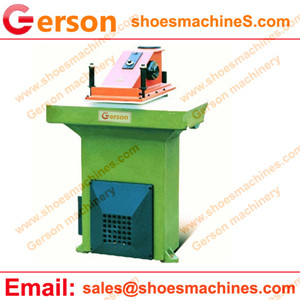 How does a clicker press cutting machine works
