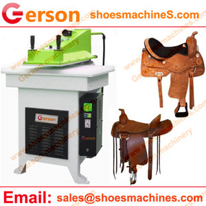 Buffalo leather saddle cutting machine
