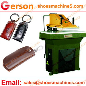 Genuine Leather Key Holder cutting machine