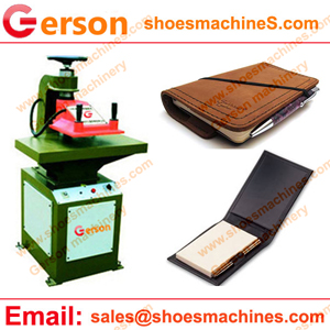 PU leather pocket notebook cover cutting machine