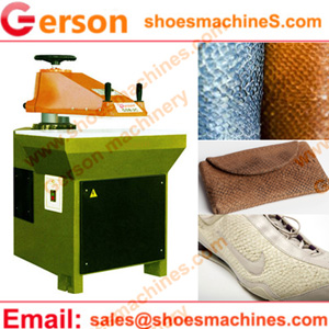 Salmon leather skin cutting machine