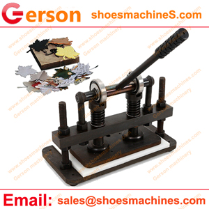 Benchtop clicker press with small mini die cutting machine